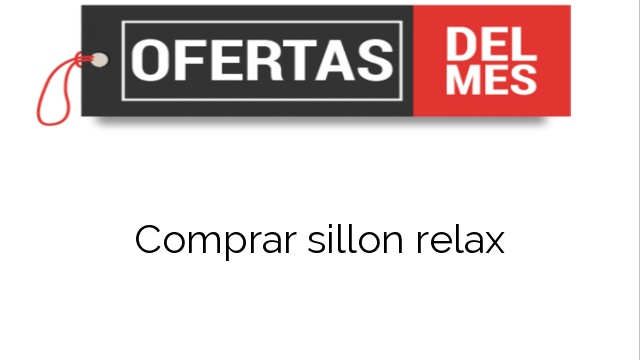 Comprar sillon relax